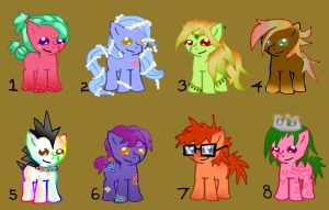 REDUCED PRICE Pony Adoptables 4/8 OPEN by Fun2BeRandom