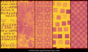 Warm Pink Grunge PAtterns by WebTreatsETC