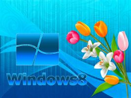 Windows 8 Blue Wallpaper by SaimGraphics