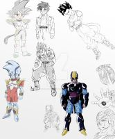 Dragonball FC sketches and designs by Zanpakuto-Leader