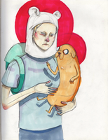 Jake the Dog and Finn the Human by MssCrimson