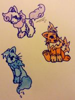 Elemental Cats adopt(closed) by TheNeonUmbreon