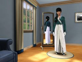 Sims 3 - Human Kitty Katswell in her kimono 2 by Magic-Kristina-KW
