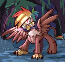 Into the Everfree Rainbow Feather by sketchit26 by Q99