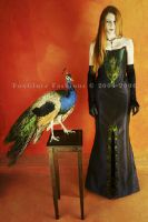 Taffeta Peacock Ensemble by FoxGloveFashions