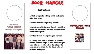 One Direction Door Hanger by iluvlouis