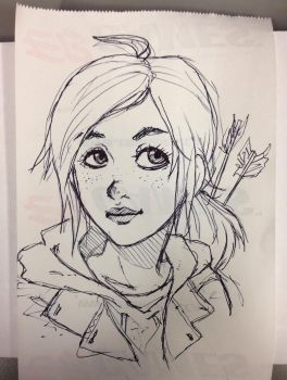another Ellie sketch by kailkuma