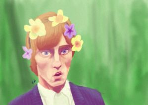 Roger With Flowers