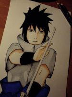 Sasuke Uchiha with dedication by Rumiko-san