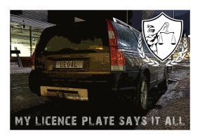 Licence Plate Series: LEGAL by wchild