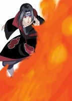 Itachi Fire ball jutsu by Krizeii