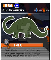 Meso Series No. B36: Apatosaurus (Alt. Costume 1) by ThePastHappened