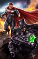 Batman VS Superman by DyanaWang