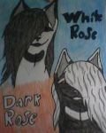 White Rose And Dark Rose by Berrymutt