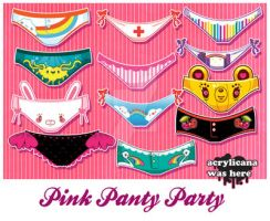 Pink Panty Party by marywinkler