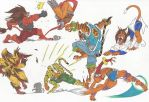Bloody Roar_Doodles08_June2012 by AlexBaxtheDarkSide
