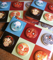 Mythical Creatures Button Sets! by ShyCustis
