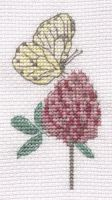 Butterfly and flower cross stitch by Lil-Samuu