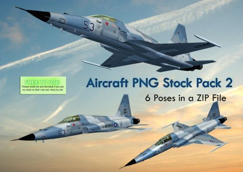 Aircraft PNG Stock Pack 2 by Roy3D