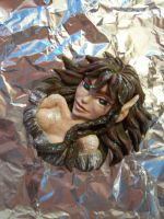 Kahvi 3D Pendant/ Plague ElfQuest by Tah-Marien