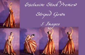 Striped Gown Exclusive3 by DigitalAlchemy-Stock