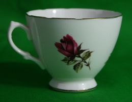 Small Dark Rose teacup3 by PietschPhotography