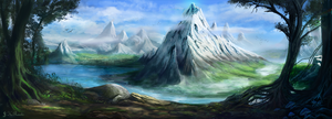Mountain Range by JKRoots