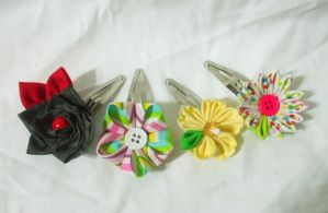 Example clips for kanzashi kits by EruwaedhielElleth