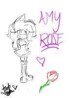 -:Amy Rose. new version:- by sonamyluffer6