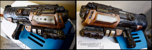 Steampunk gun: Predator. by InterstellART