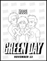 Green Day DOS Coloring Page by kelly42fox