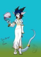 Taz-Dragon as Fina by Dragon-Furry