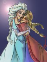 Elsa and Anna 2014k by BrianTyson