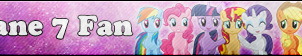 Mane 7 Fan button by SunsetMajka626