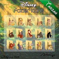 Disney Folder Icons - Tarzan by EditQeens