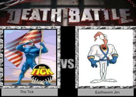 DEATH BATTLE Idea The Tick VS Earthworm Jim by JefimusPrime