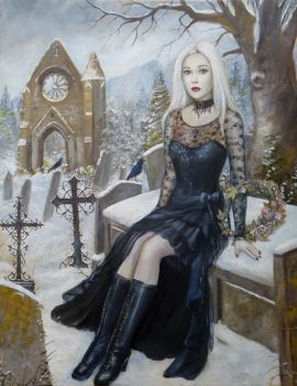 Vampire in Snow by dashinvaine