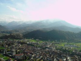 Mountains and Town by francy-stock