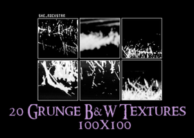 20 BW Textures 100x100 by she-rockstar