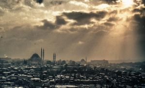 Snow storm in Istanbul by TanBekdemir
