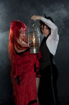 Sebastian + Grell - Off to a new adventure by RomaiLee