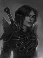 Commission: Arvellas Tabris by StarshipSorceress