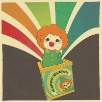 Vintage toy-clown in the box by canonto