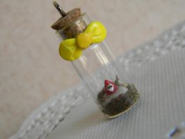 Garden Gnome In A Bottle by ThePetiteShop