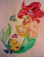 Ariel and Flounder by afoulke169