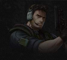 Chris Redfield Project X Zone by X-V-I-I