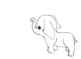 elephant uncolored by Little-Blue-Buggy