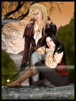 Labyrinth - Jareth and Sarah by MelyCat