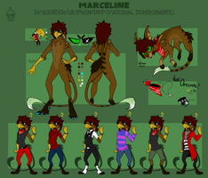 MARCELINE REFERENCE SHEET 2016 by Shiro-Daemon