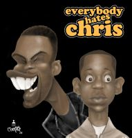 Everybody Hates Chris-catures by artofjared